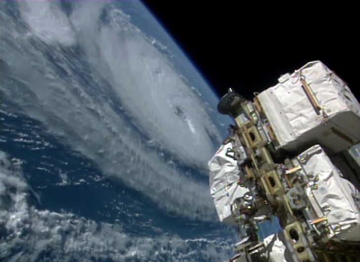 L'ouragan Madeline vu de la Station spatiale internationale ISS