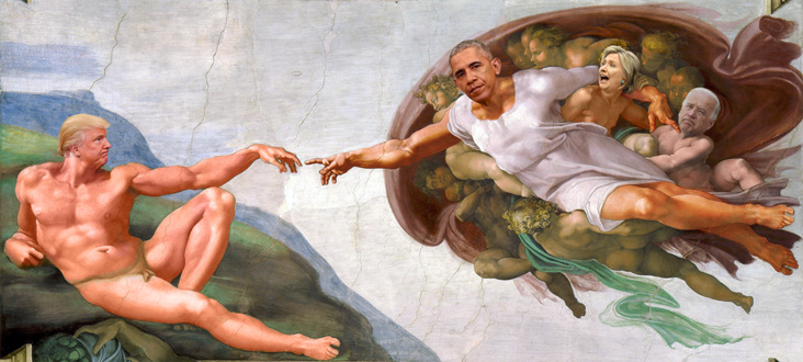 Obama et Trump au cœur d'une photoshop battle