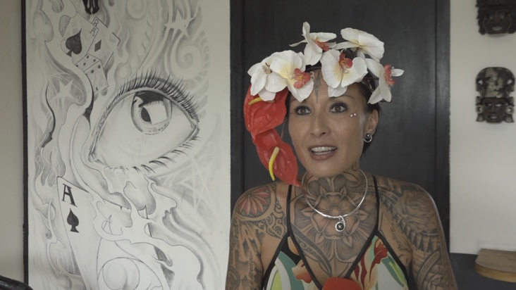 Tatouage : Estelle Anania, une polynésienne au concours national Ink Girl