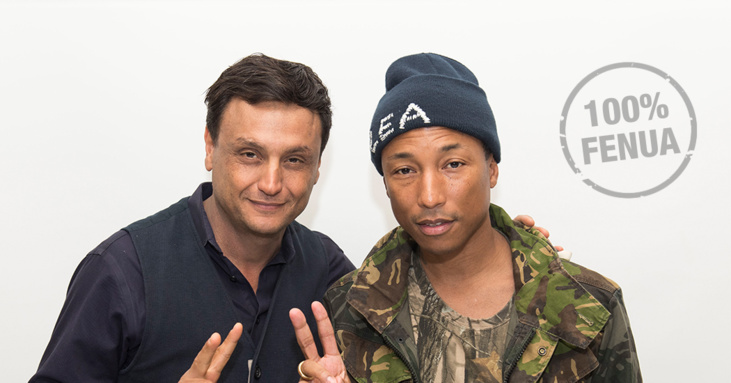 Ramzi Malouki et Pharell Williams © R. Malouki