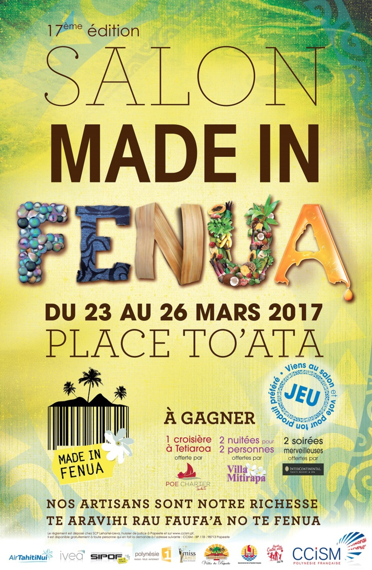 "100% ""made in fenua"" à To'ata du 23 au 26 mars"