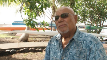 Alban Ellacott, président de l'association Tainui - Friends of Hokule'a
