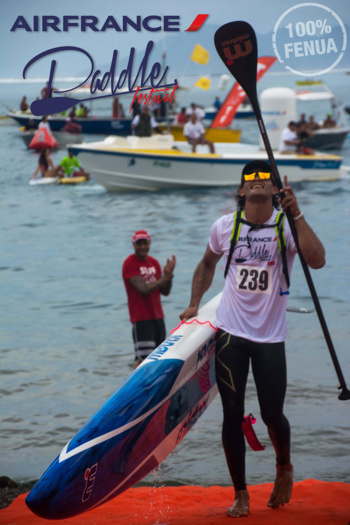 Steeve Teihotaata vainqueur de la Elite Race 2016 © 4 Events Pacific