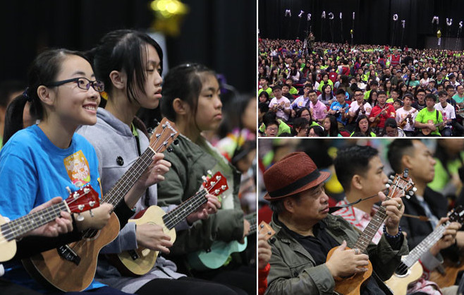 Video - Hong Kong bat le record du monde de ukulele
