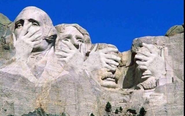 Trump immortalisé au Mont Rushmore