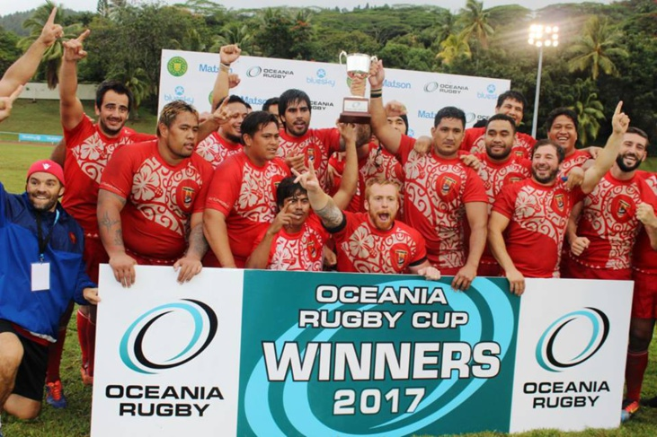 Les aito tahitiens à l'issue du match. (Photo Oceania Rugby)
