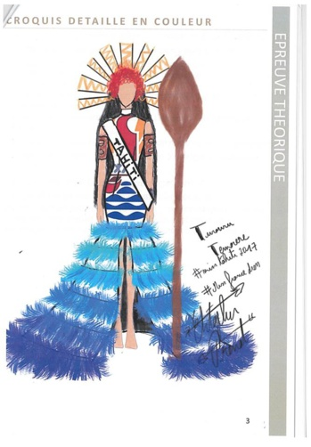 Christopher Prenat réalisera le costume de Miss Tahiti pour l'élection Miss France