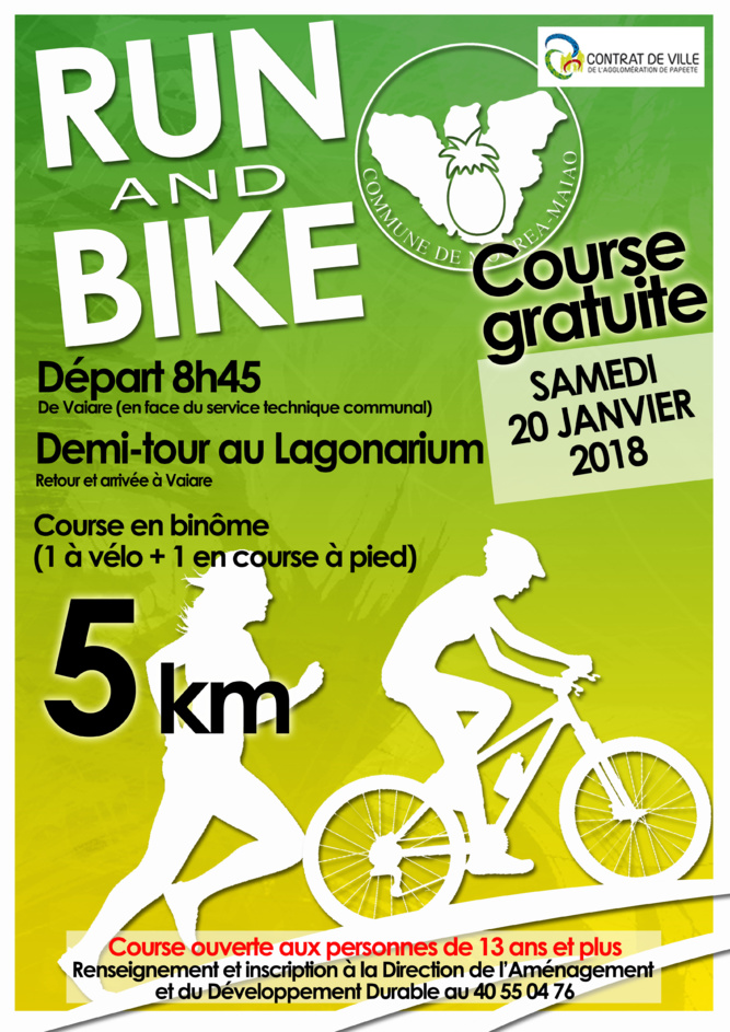 Run and bike ce samedi à Moorea