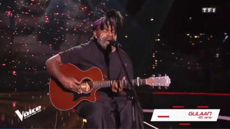 Vidéo - The Voice : le chant traditionnel kanak de Gulaan fait sensation