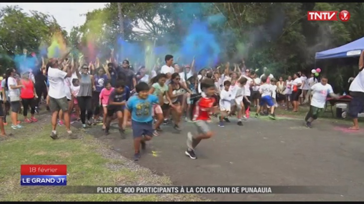 Punaauia : 400 personnes à la color run