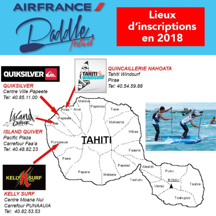 Air France paddle Festival 2018 : rendez-vous le 7 avril à Punaauia