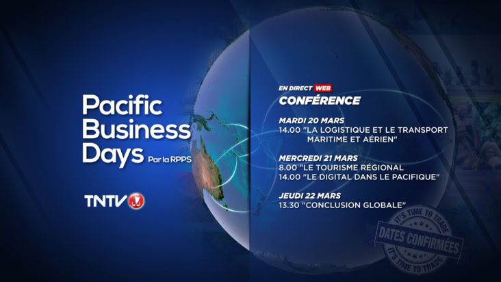 Suivez les Pacific Business Days en livestreaming sur TNTV !