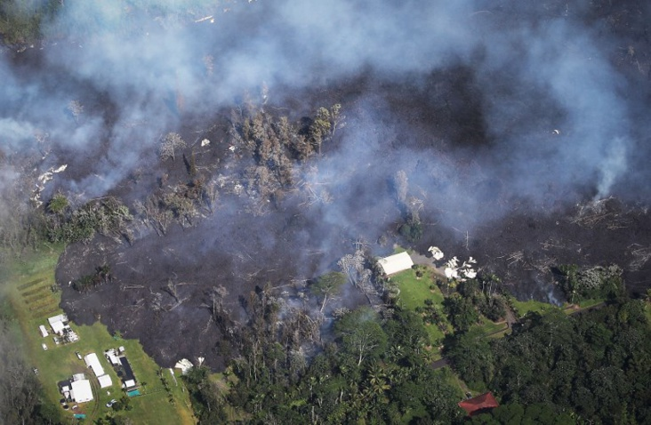 Une trentaine de bâtiments détruits par l'éruption du volcan Kilauea à Hawaii