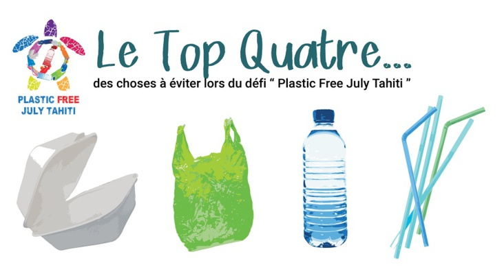 (Crédit photo : Plastic free july Tahiti)