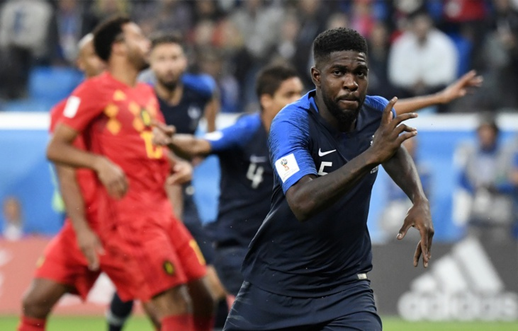 Umtiti a libéré la France à la 51ème minute - Photo : AFP