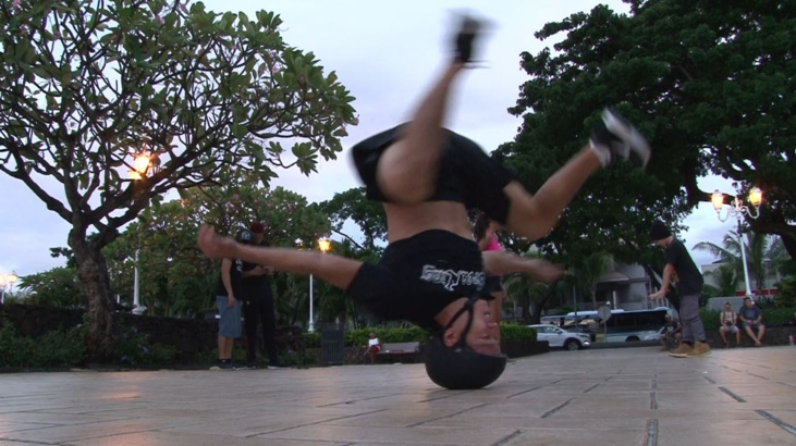 Une session d'initiation au breakdance à Vaiete