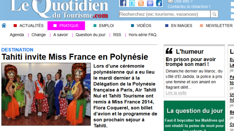 Miss France attire les regards vers Tahiti.