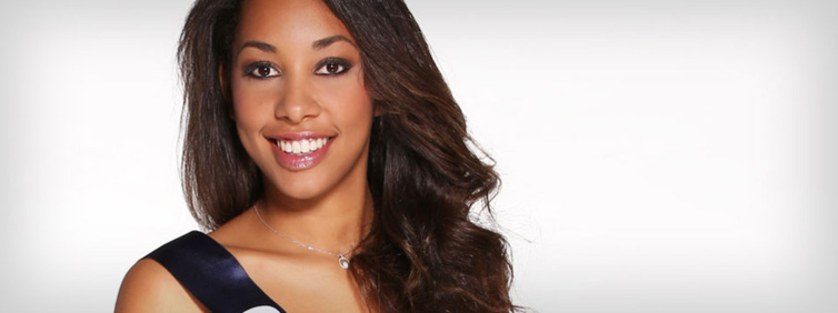 Miss Guadeloupe : Chloré Mozar . Source : Miss France
