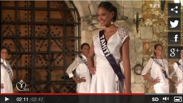 Capture d'image vidéo Miss France