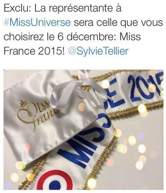 Miss France 2015 ira à Miss Univers