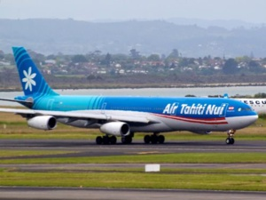 Un avion d'Air Tahiti Nui à Auckland. Photo d'illustration. Source : Pinterest