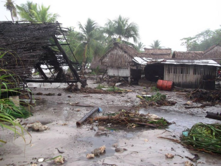 Passage du cyclone Pam à Kiribati. Photo d'archives.