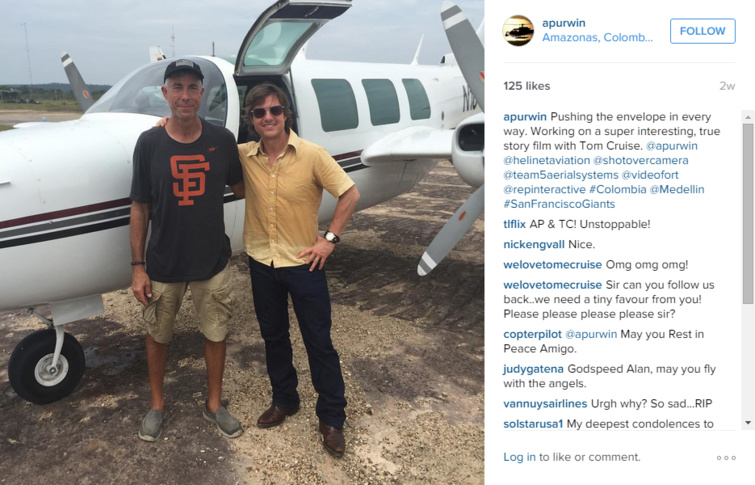 Accident d'avion sur le tournage d'un film de Tom Cruise