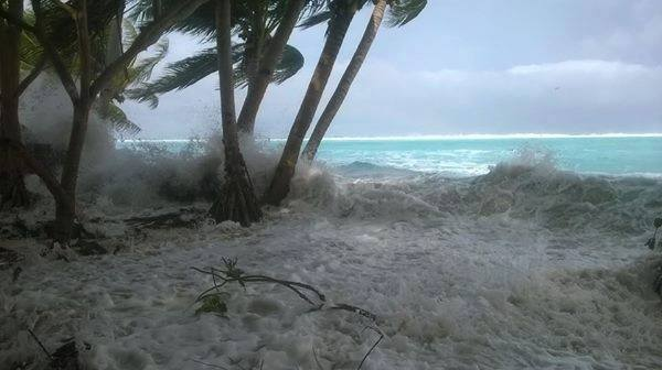 Photo d'illustration. Archives cyclone Pam à Kiribati
