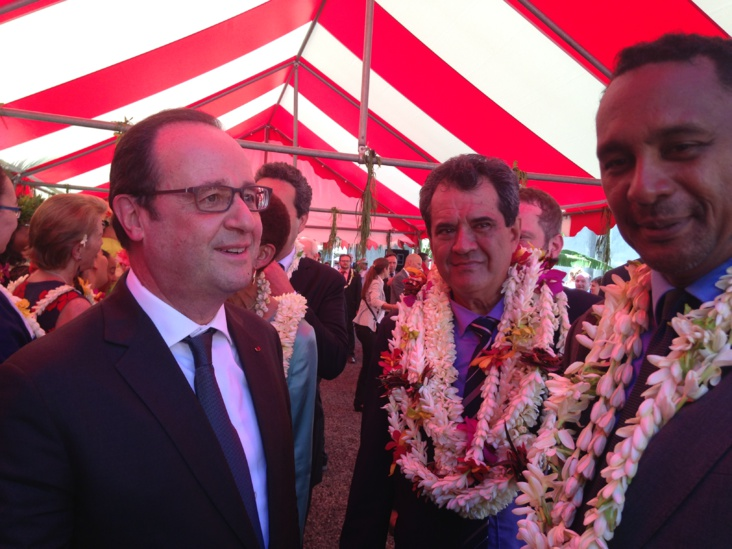 François Hollande, Edouard Fritch et Tearii Alpha