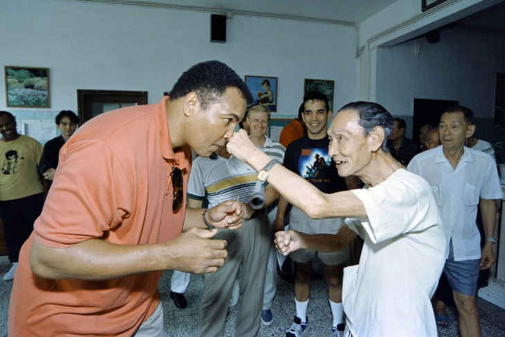 Mohamed Ali en septembre 1994 - crédit photo Mike Fiala